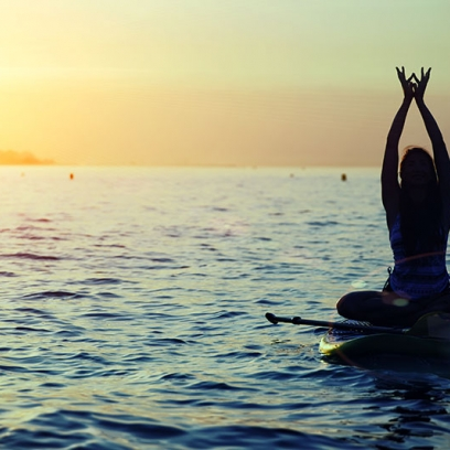Paddle Boarding Yoga